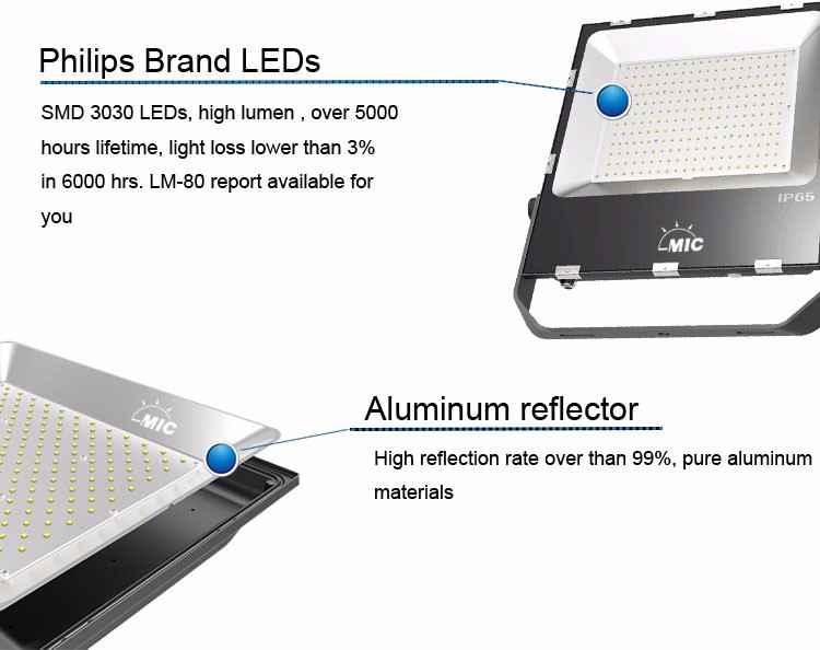 outdoor SMD 3000 lumen 30w led flood light