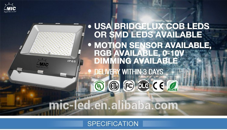ETL DLC SMD outdoor 100 watt led floodlight