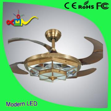 2017 modern lighting 52 inch high quality ceiling fan hidden blades with remote