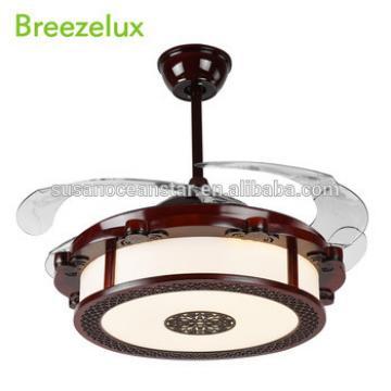 80w 220 volt led chandelier antiqued 42 inch ceiling fan light with hidden blades