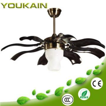42 Inches acrylic hidden blades ceiling fan E27 light