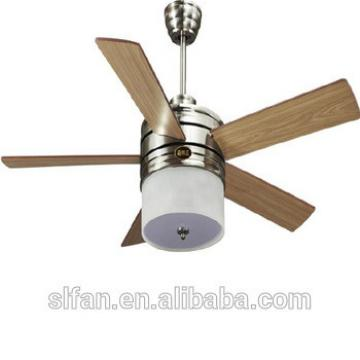"52"" DC motor modern design ceiling fan with led light kit remote control"