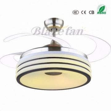 2017 hot new products ceiling fan watts hidden blades modern