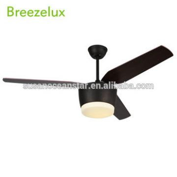 Simple design style AC Remote control 75W wooden blade fan ceiling light