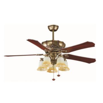 classis design decorative ceiling fan with light CE CCC SAA UL certificate