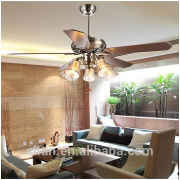 52 inch ceiling fan with 5 pieces poly wood blade and glass cup E27*5 light,CE,UL approves