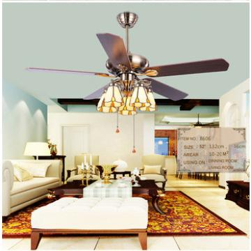 52 inch ceiling fan with 5 pieces timber blades and glass cup led light,CE,UL approves