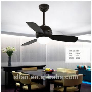 "36"" inch cuty ceiling fan Black blades and glass light kits for kid's room house AC/DC motor"