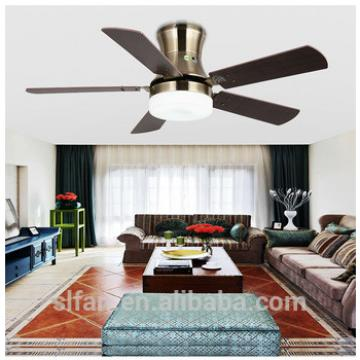 48 inch modern style ceiling fan with five blades wooden for indoor&out door use wood blade