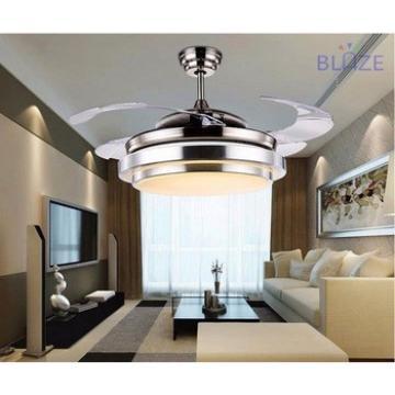 led ceiling lights ceiling fan remote control 220v hidden blades modern