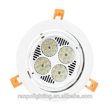 Beautiful Led Crystal Lighting 220V,White Downlight with Fan,30W Adjustable Commercial Led Downlight