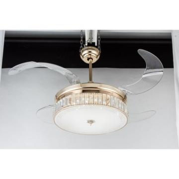 China gold manufacturer environmental modern ceiling fan light