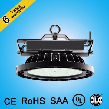 Alibaba express comfort visual 150lm/w Dimmable industrial ufo high bay led light ul dlc