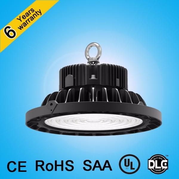CE&RoHS approved patent design waterproof antiglare lens 200w 150w ip65 ufo led high bay light #1 image