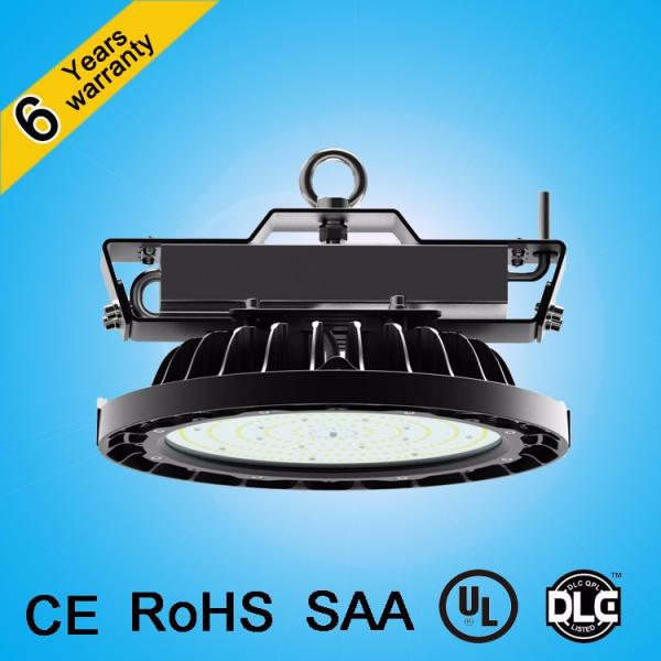 CE&RoHS approved patent design waterproof antiglare lens 200w 150w ip65 ufo led high bay light #2 image