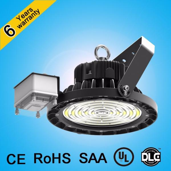 CE&RoHS approved patent design waterproof antiglare lens 200w 150w ip65 ufo led high bay light #3 image