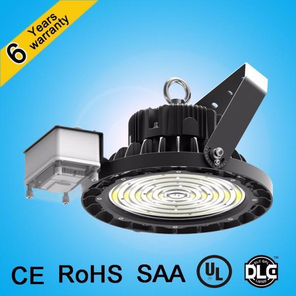 Die cast aluminum UGR<19 led warehouse lighting 200w 150w microwave dimming high bay light #3 image