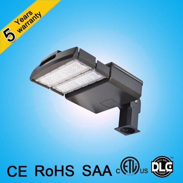CE ROHS SAA ETL DLC 120lm/w 250w 200w 150w 100w led street light for parking lot #1 image