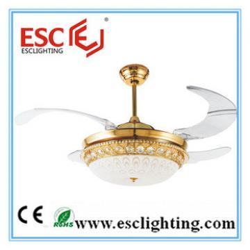 70w AC motor 4 hidden blade led ceiling fan/decorative lighting ceiling fan