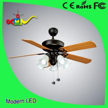 Remote control decorative ceiling fan with e27*5 lights 5 plywood blade