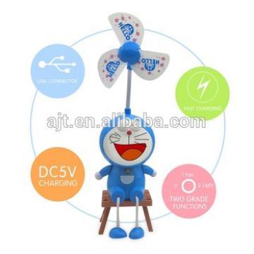 toy Baby portable fan with light Doraemon student fan