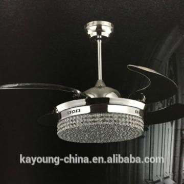 remote control home decorative hidden blade Ceiling fan with light