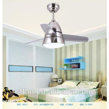 36 inch plastic blade small ceiling fan with single led light kit by remote control for children's room