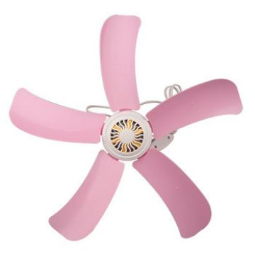2016 new custom logo wholesale high quality strong pink plastic light weight ceiling fan