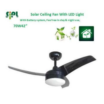 VENT KITS ABS fan blades 70 watt solar fan with LED light air blowing 24v solar ceiling fan