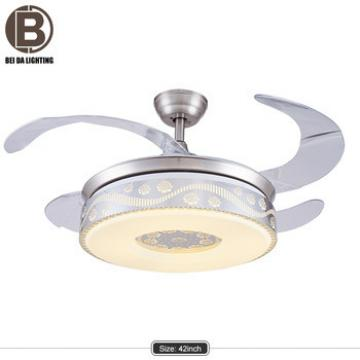 High quality 42 inch 36W LED wall controlled ceiling fan with invisible blades