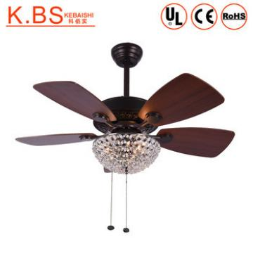 Home Decoration Fancy Crystal Plywood Blades Ceiling Fan With Light