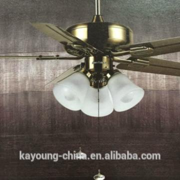 remote control ceiling fan with pendant light for hotel engineering