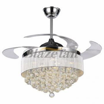 42 inch decorative lighting ceiling fan with hidden blades LED 4pcs ABS plastic blade 153*18 moter 42-8987