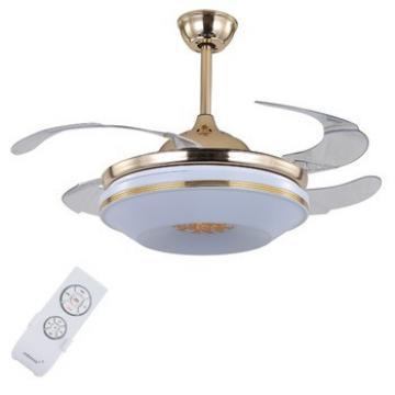 Promotional good quality modern design 13.9KG ceiling fan with hidden blades