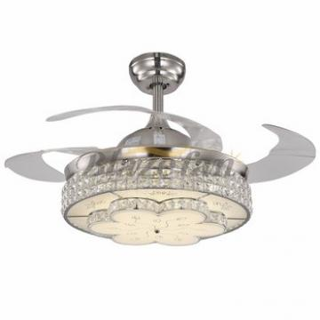 42 inch decorative lighting ceiling fan with hidden blades with LED 4pcs ABS plastic blade 153*18 moter 42-8960