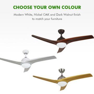 Energy saving low watt modern ceiling fan with led light