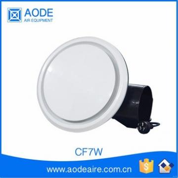 White ceiling fan with light