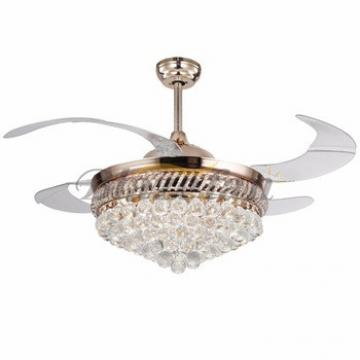 42 inch ceiling fan with hidden blades with LED light 4pcs ABS plastic blade 153*18 moter 42-8986