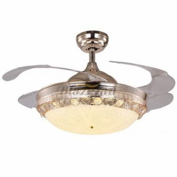 42 inch ceiling fan with hidden blades with LED light 4pcs ABS plastic blade 153*18 moter 42-8970