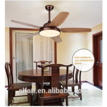 52 inch plastic blade vintage ceiling fan with light and remote control 12V DC solar motor