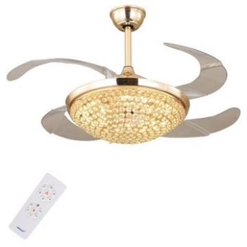 Crystal DC Invisible Ceiling Fan with LED Light