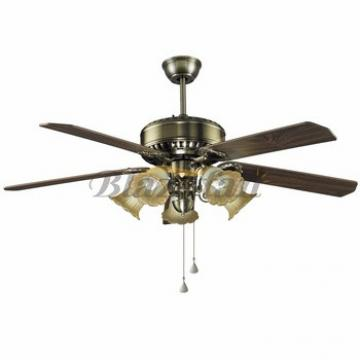 56 inch Remote control decorative ceiling fan with e27*5 lights 5 plywood blade 188*15 moter 56-1503