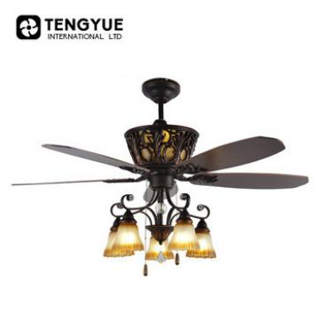 56 inch 5 wooden blades electrical ceiling fan with light fancy fan