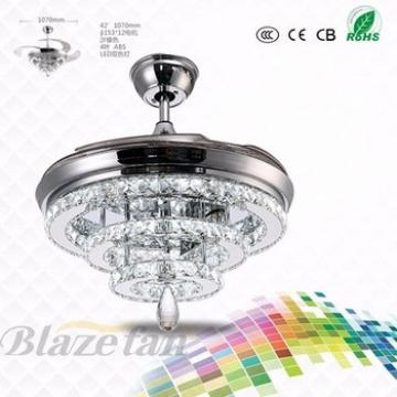 hidden blades modern dc ceiling fan lighting