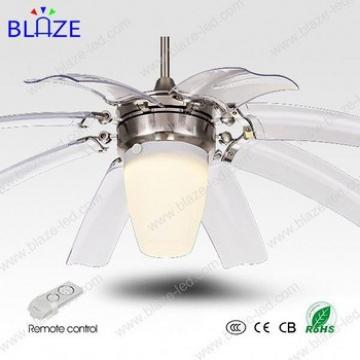 High quality 42' decorative LED ceiling fan lights with remote controll with hidden blades