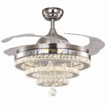 strips led lights small ceiling fan hidden blades modern