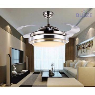 led light bulbs ceiling fan led light hidden blades modern