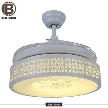 Simple hidden fan ceiling light white 220v ceiling light fan for sale