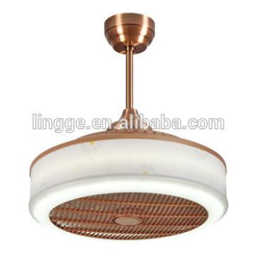Hot sale AC motor remote control ceiling fan with led light