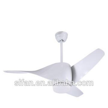 52 inch white color low profile plastic blade DC ceiling fan with led light kit remote control